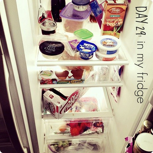 my fridge. not much, Sunday is grocery day. #janphotoaday
