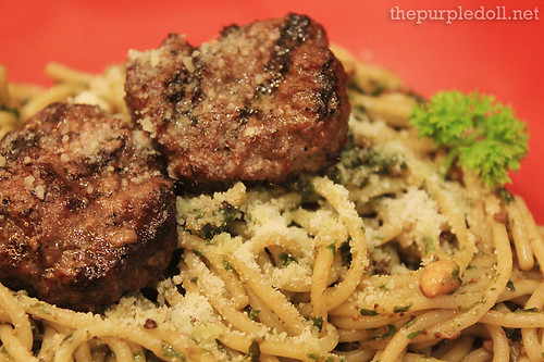 BBB Meatballs in Pesto Sauce