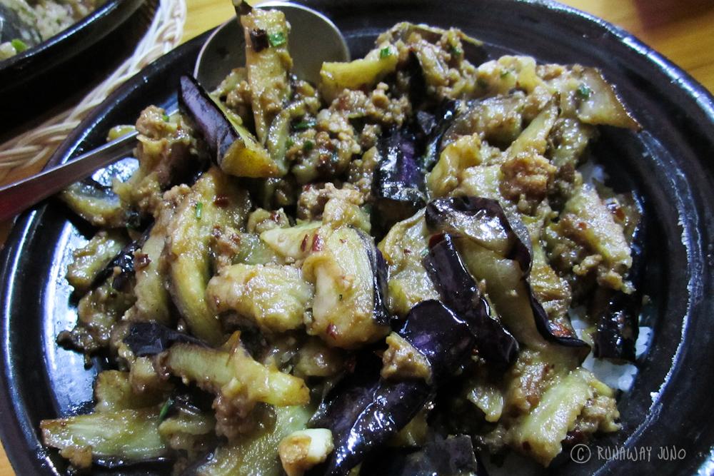 Eggplant Claypot Yangshuo Guangxi China