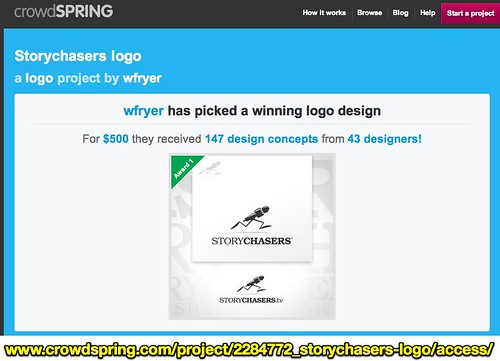 crowdSPRING | Storychasers logo, a Logo project by wfryer