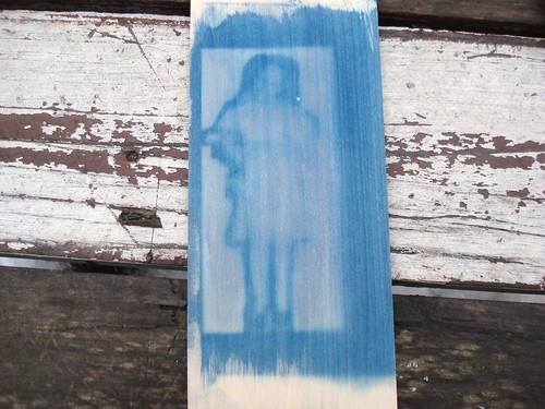 Cyanotype on Wood