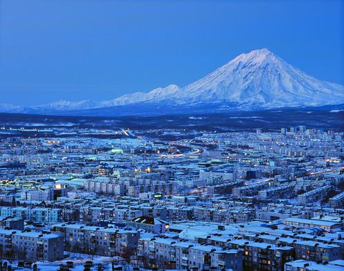 無料写真素材, 建築物・町並み, 都市・街, 山, 青色・ブルー