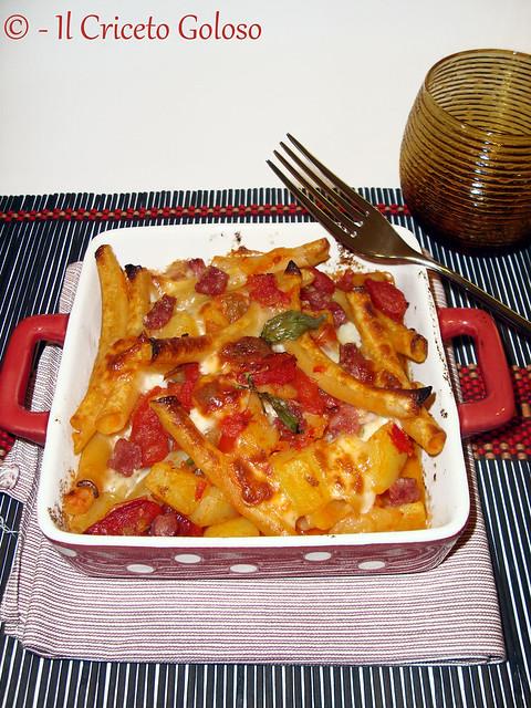 Pasta e patate al forno 2