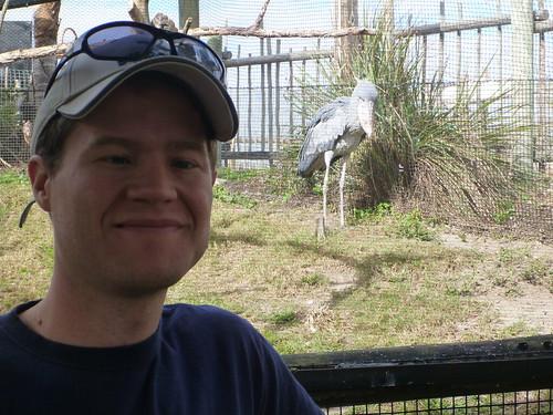 Me and Shoebill Stork