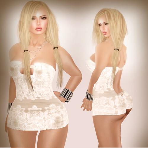 A&A Fashion Sannu Dress beige