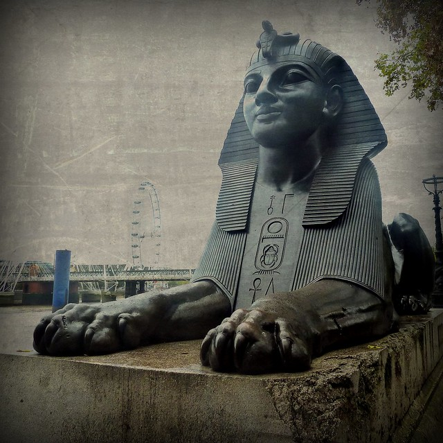 Egyptian sphinx and the EYE