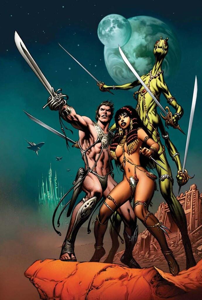 Alan Davis cover for John Carter of Mars omnibus
