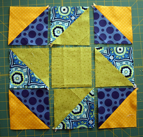 Friendship Hexagon block tutorial - detail 2