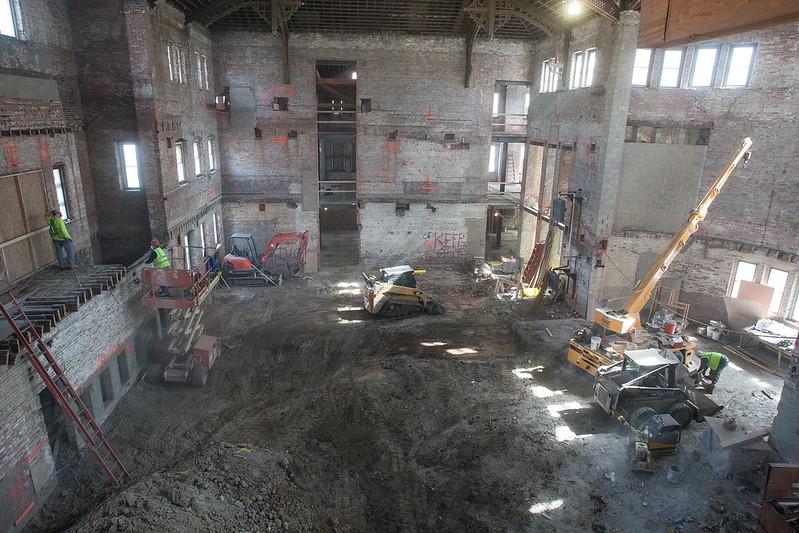 Alumni Hall Renovation, March 2014 - Knox College