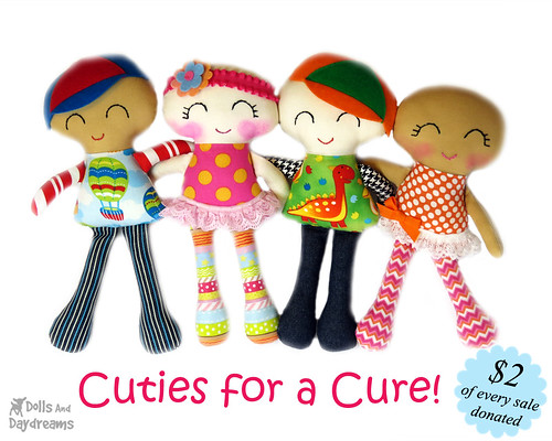 Cuties for a Cure Sewing Pattern Chemotherapy Doll