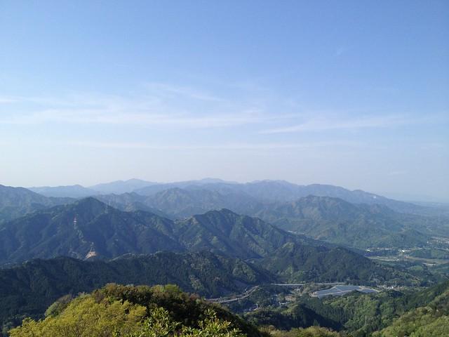錫杖ヶ岳 山頂から鈴鹿山脈