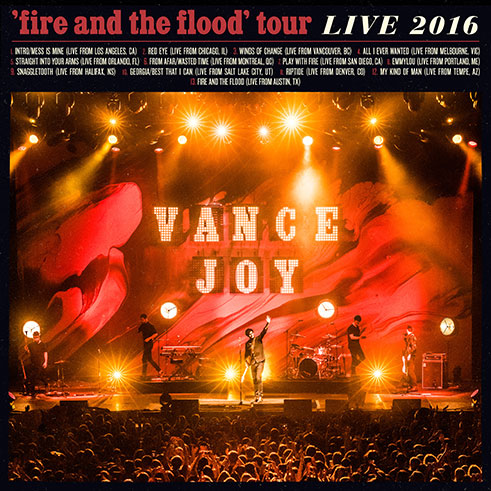 Vance Joy - 'Fire And The Flood' Tour