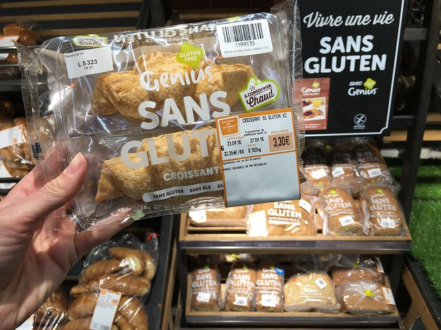 Genius Sans Gluten croissants and breads at Carrefour France