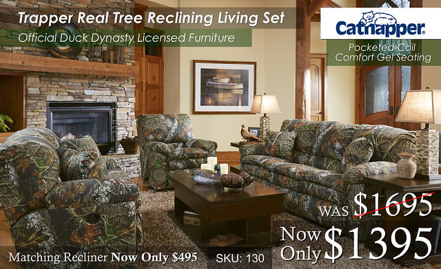 Trapper Real Tree Reclining Set