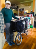 On Friday, I got to hear Heinz Stucke speak in Portland. He's been on a continuous bike tour for 50+ (!) years! Check out his loaded Brompton. #heinzstücke #brompton #bromptonbicycle