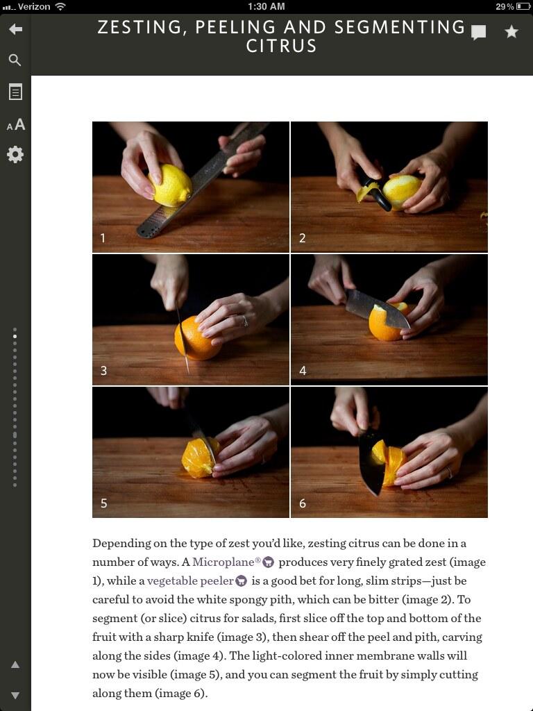 hot to zest, peel and segment citrus