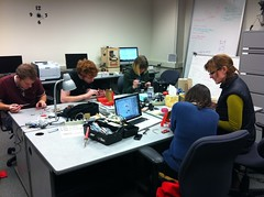 <p>Assembling our serial enabled LCD kits from sparkfun</p>