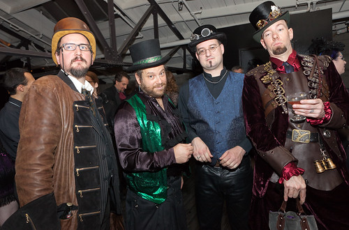 Steampunk gentlemen guests
