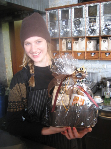 Grace displays the Balzac's holiday gift bundle.