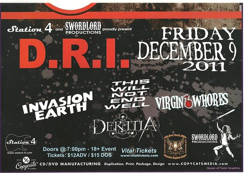 12-09-11 DRI/Invasion Earth/This Will Not End Well/Virgin Whores @ St. Paul, MN (Bottom)