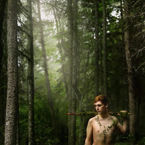 無料写真素材, 人物, 男性, 人物  森林