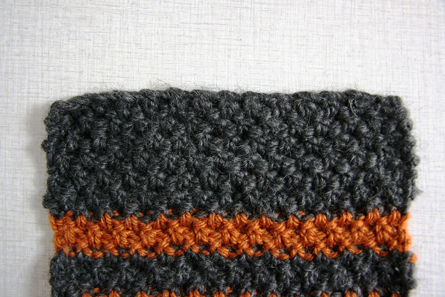 Double Moss Stitch Scarf for H.