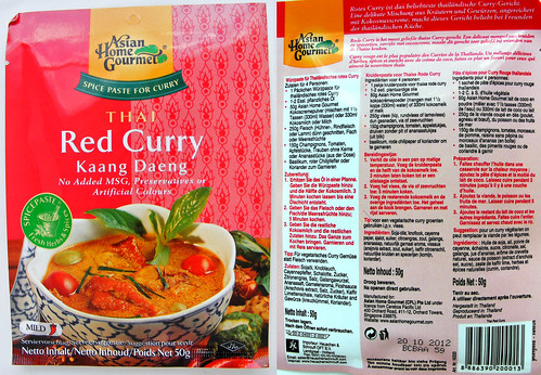 Thai red Curry van Asian Home Gourmet