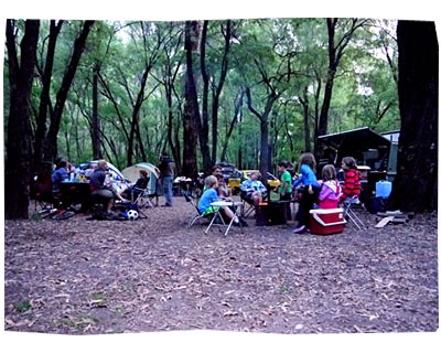 Camping at Honeymoon Pool, Nov 2011