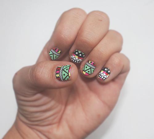 aztec nails 1