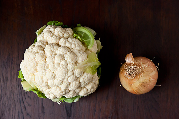 cauliflower & onion