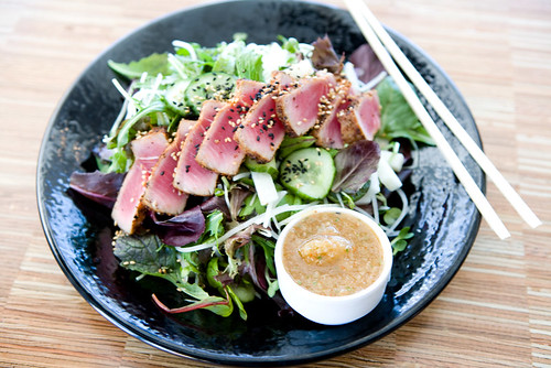 seared ahi tuna salad by TAKE A BAO