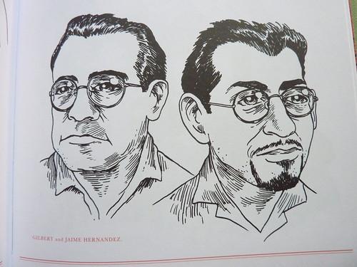500 Portraits by Tony Millionaire - the Hernandez Bros.