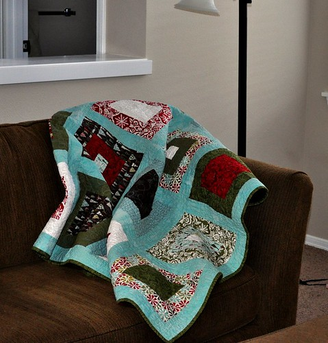 my snuggly Christmas quilt