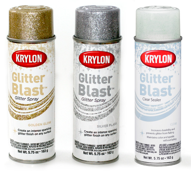 krylon glitter spray paint DIY