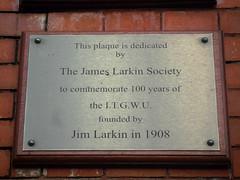 Photo of James Larkin grey plaque