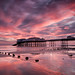 Fire in the sky, sunrise at Cromer Pier by milo42