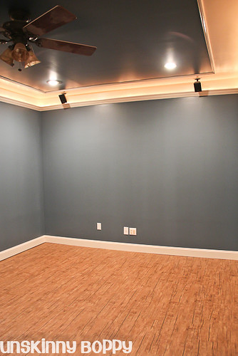 theater room in basement