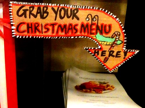 Grab your Christmas menu here