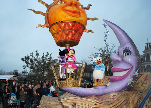 Mickey, Minnie and Donald float