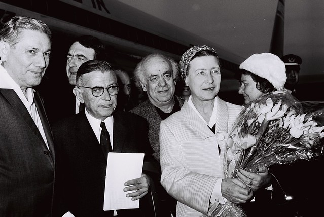 Jean-Paul Sartre, Simone de Beauvoir, Avraham Shlonsky and Leah Goldberg