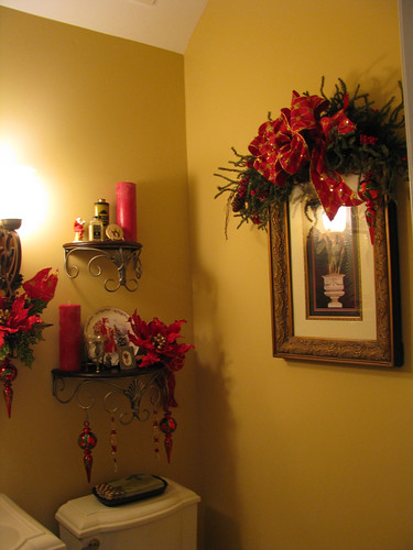 The Christmas Decorated Bathrooms