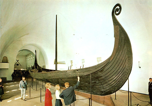 Oslo - Oseberg Ship at Viking Ship Museum (Postcard)