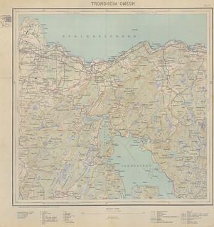 Kart over Trondheim Omegn (1934)