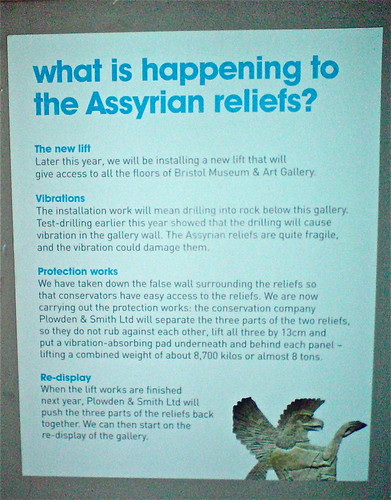 what is happening to the Assyrian reliefs?