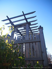 Creating beautiful outdoor spaces with custom made cedar pergolas and fences.