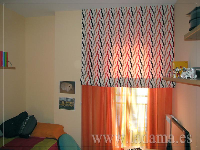 Fotograf as de cortinas juveniles la dama decoracion - Cortinas habitaciones juveniles ...