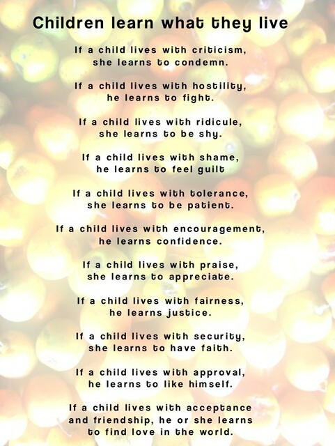 a child learns what they feel