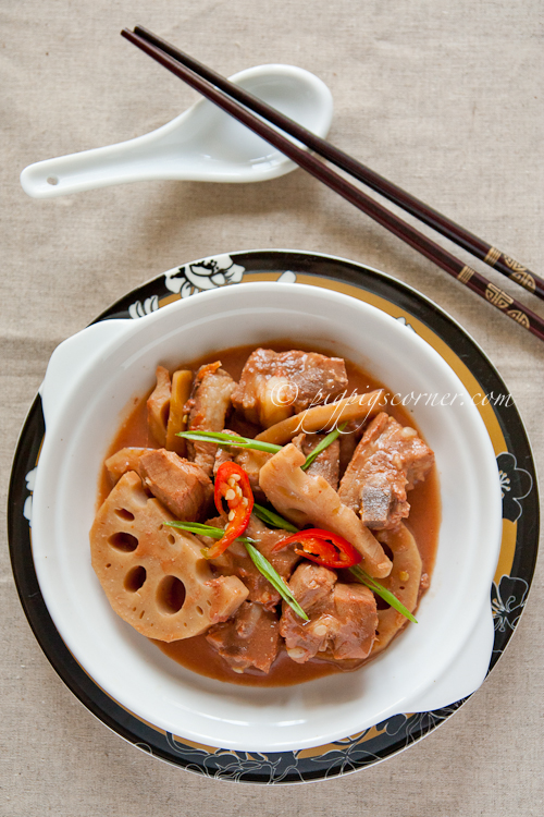 Spicy Nam Yee Pork Ribs with Lotus Root 香辣南乳排骨焖莲藕