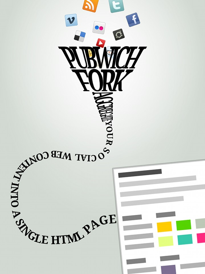 PubwichFork typography poster