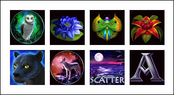 free Panther Moon slot game symbols